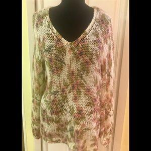 Lauren Conrad floral sweater Disney line XL